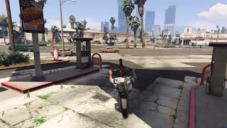 BIKE WHEELIE STUNT - GTA 5