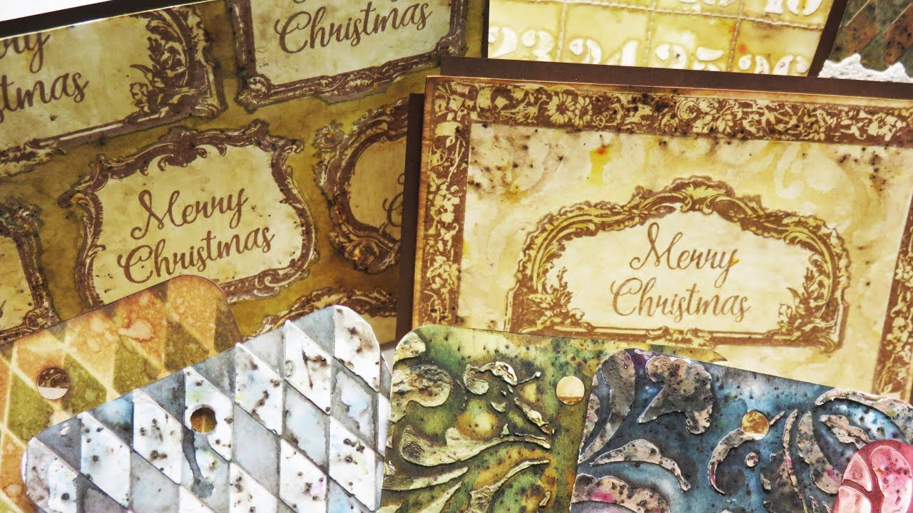 Christmas Cards - Vintage Frames by scrapcosy - YouTube