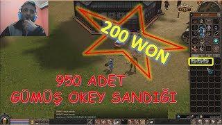200 WON'LUK 950 ADET GÜMÜŞ OKEY SANDIĞI AÇILIŞI Metin2 GamePlay