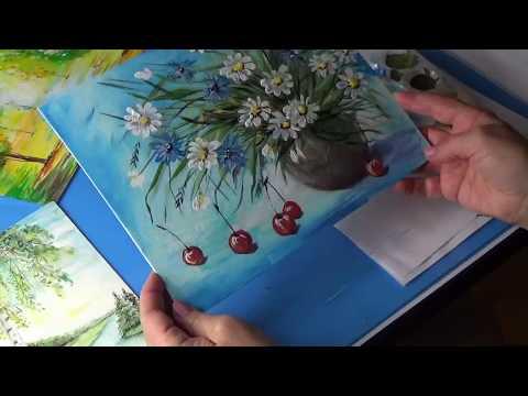 Как нарисовать цветы в вазе Натюрморт