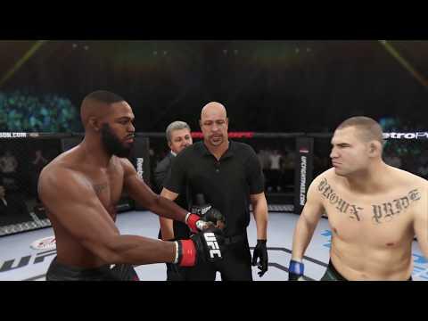 Jon Jones Vs. Cain Velasquez (EA Sports UFC 3) - CPU Vs. CPU - Crazy UFC 👊🤪