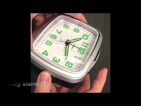 JCC Music Alarm Silent Non Ticking Luminous Bedside Quartz Alarm Clock Unboxing and Review - TB212