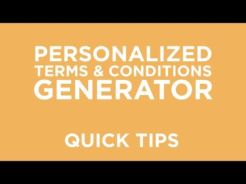 Personalized Terms and Conditions Generator