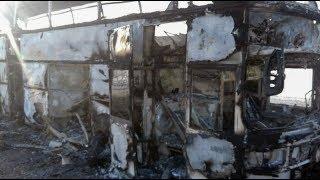 Пожар в автобусе в Казахстане: 52 погибших
