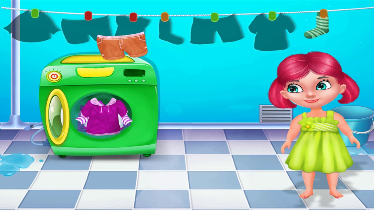 Fun Baby Kids Game House Care Game For Kids Clean Up