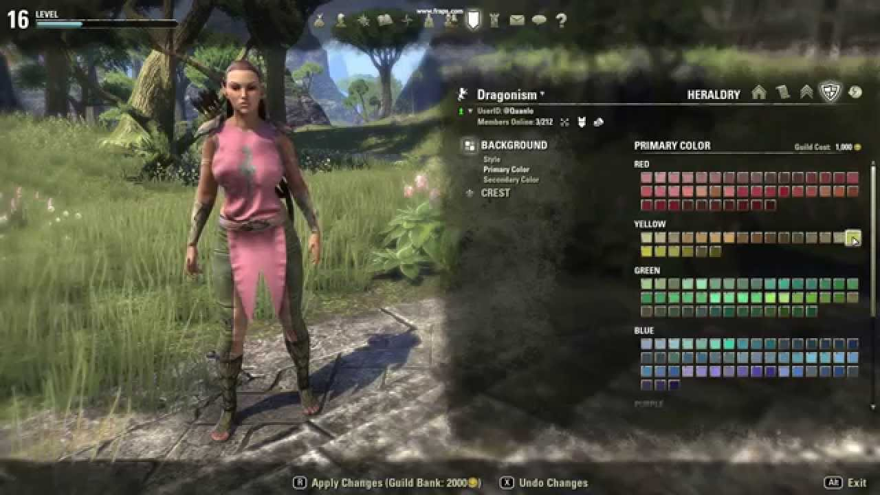 Eso Guild Tabard On Dragonism Youtube