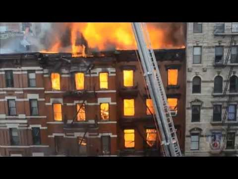 HD Video of Fire and Major building collapse 2nd Ave & 7th Street NYC - March 26, 2015