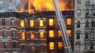 hd video of fire and major building collapse 2nd ave 7th street nyc march 26 2015