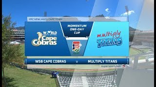 Momentum One-Day Cup | WSB Cape Cobras vs Multiply Titans