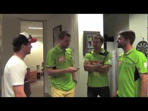 Sydney Thunder Dirk Nannes pranks Stephen O'Keefe