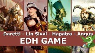 Daretti vs Lin Sivvi vs Hapatra vs Angus EDH / CMDR game play for Magic: The Gathering