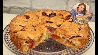 Невероятно быстрый и вкусный пирог со сливами. Простейший рецепт
