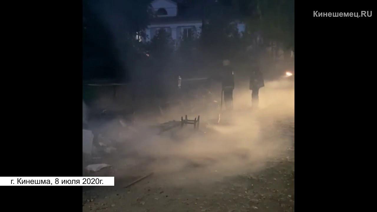Возгорание на свалке под окнами детского дома