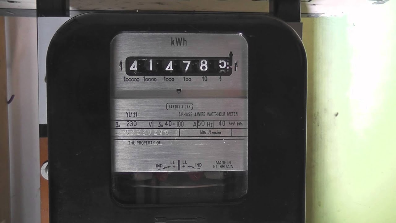 3 Phase Meter Utilyti : Phase kwh meter running backwards youtube