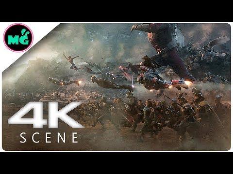Avengers Assemble In Final Battle Scene - Avengers 4_ Endgame (2019) Marvel Movie Clip 4k