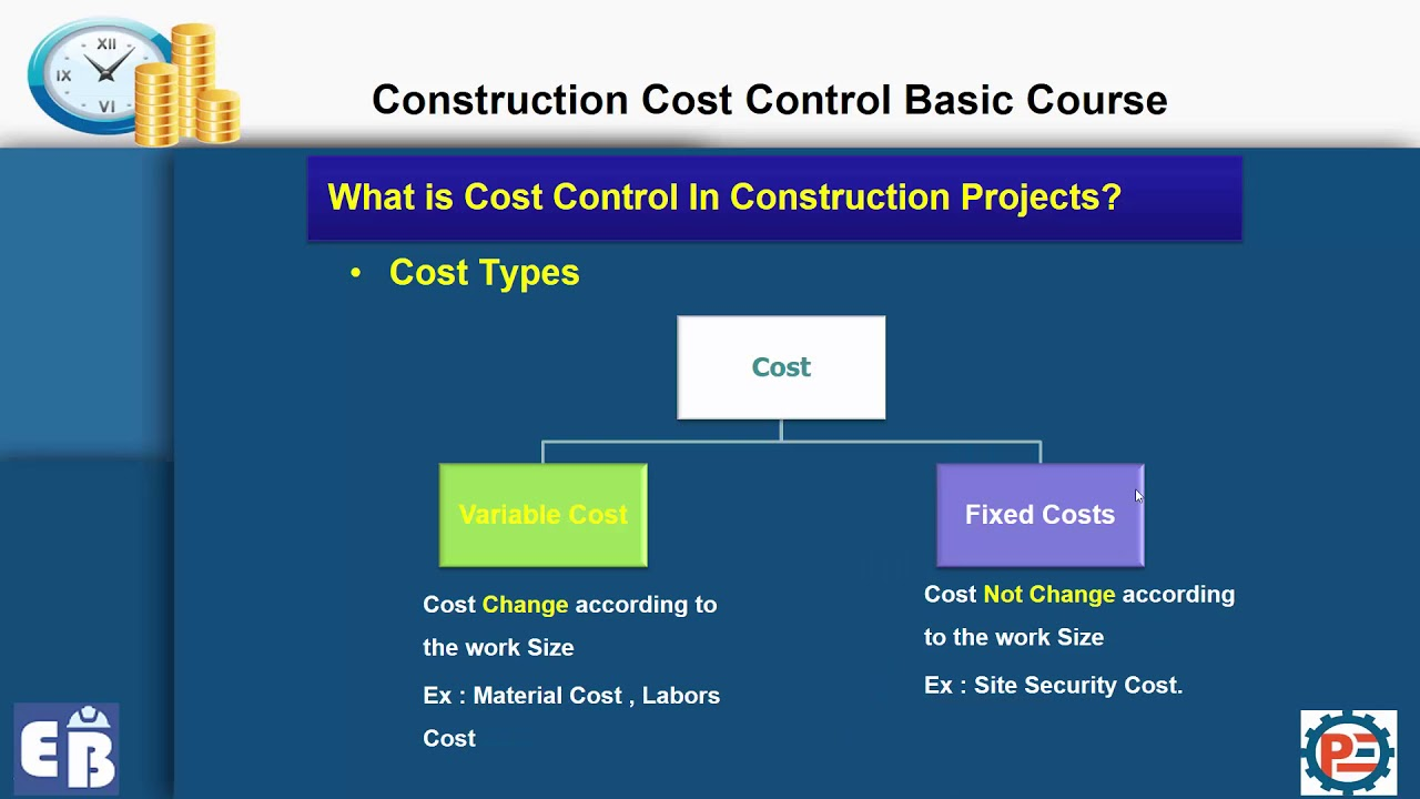 cost control Construction cost estimating and cost control from columbia university this course introduces the types of cost estimation from the conceptual design phase through the more detailed design phase of a construction project.
