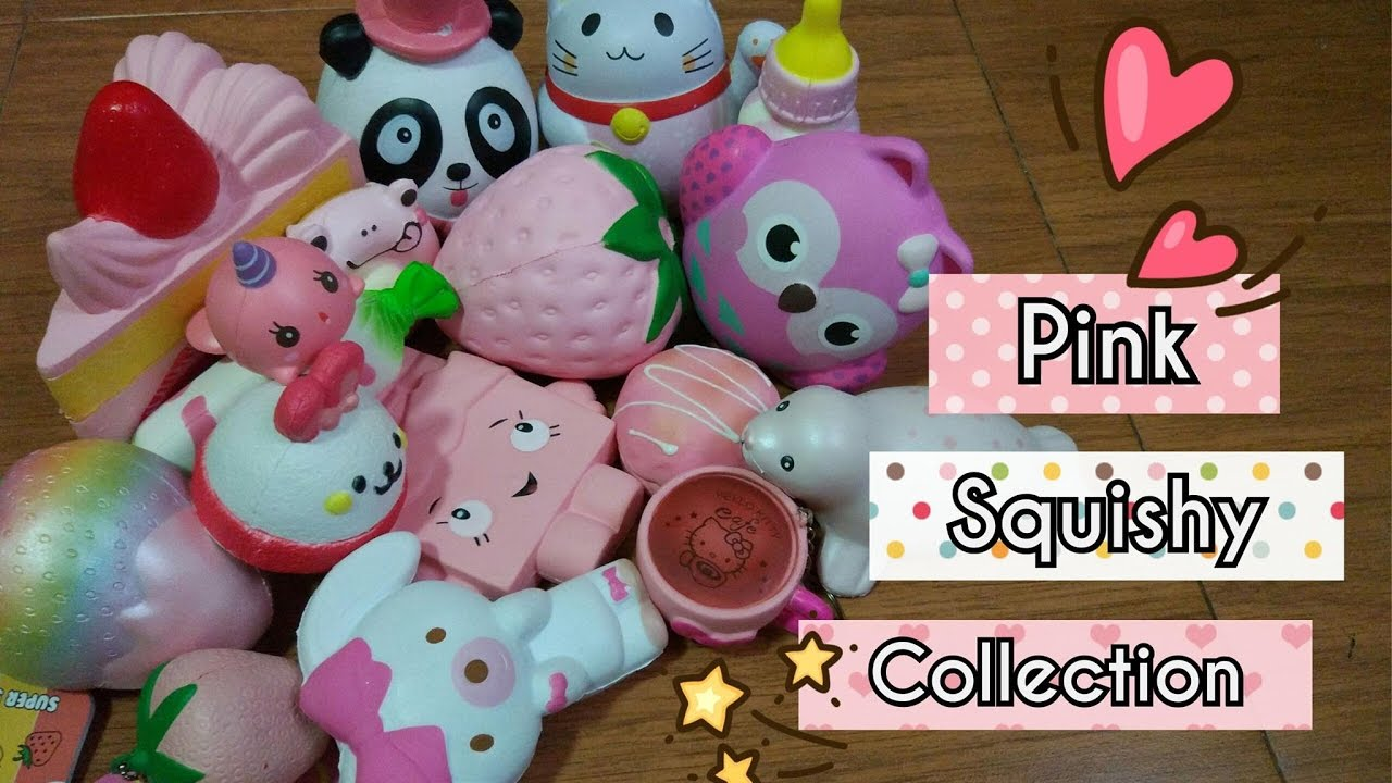 My Pink Squishy Collection - YouTube