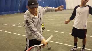 The proper tennis forehand swing and finish