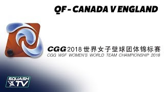 WSF Women\'s World Team Champs 2018 - Canada v England - Quarter Final