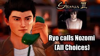 SHENMUE 3 Ryo calls Nozomi Harasaki (All Conversation Choices)