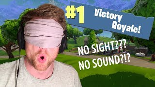 WIN without SIGHT or SOUND?!?! | FORTNITE BATTLE ROYALE INSTINCT CHALLENGE (Parody)