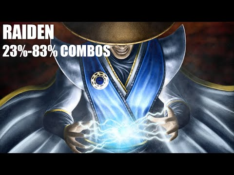 Mortal Kombat X - Raiden Combos 23%-83% (1080p 60fps MKX Gameplay)