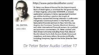 Dr. Peter Beter Audio Letter 17: General George S. Brown; Swine Flu; Election - October 26, 1976