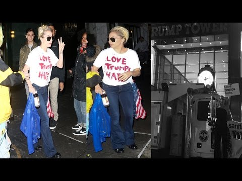 Lady Gaga Wears Branded T shirt Just One Day After The Election