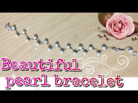 How to make pearl bracelet using paper pins