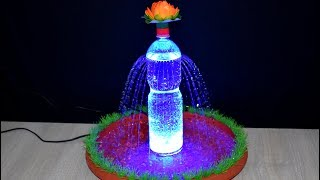 How to make Tabletop Fountain with plastic bottle and Led very easy and fast / DIY
