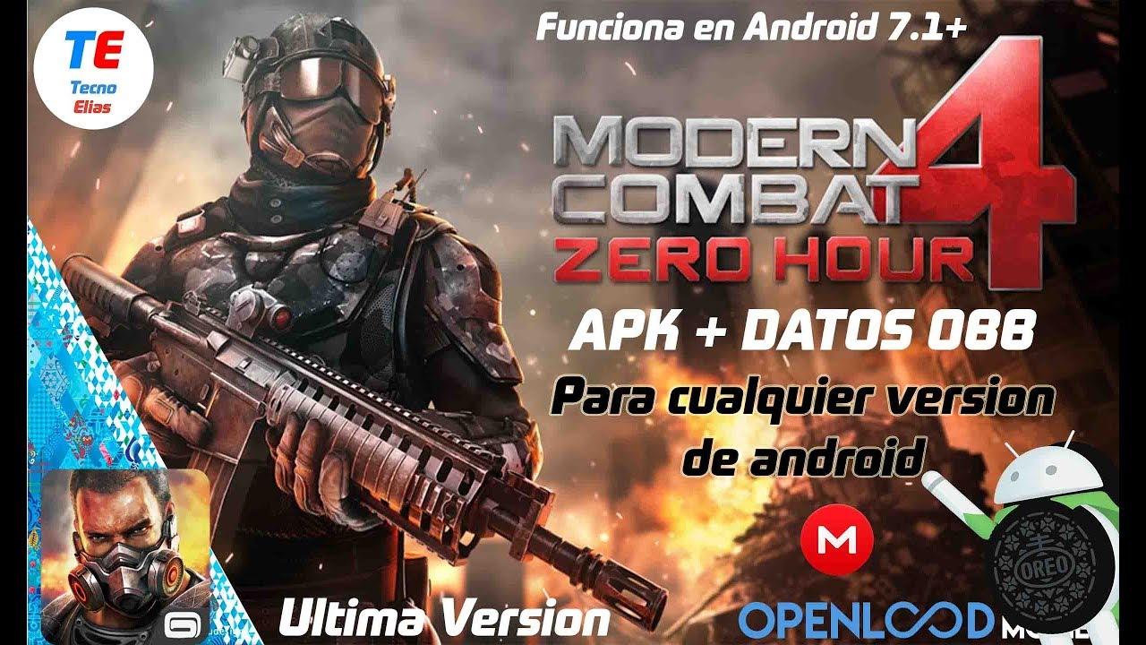 modern combat 4 zero hour apk for nougat