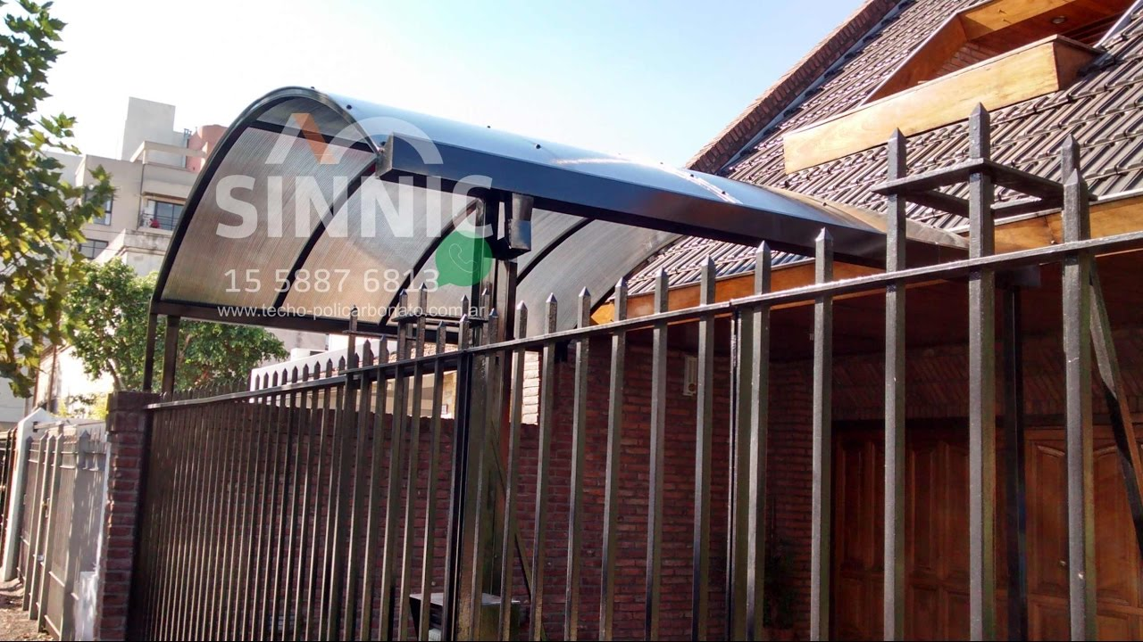 Techo de policarbonato para cochera whatsapp1558876813 for Modelos de techos metalicos para casas