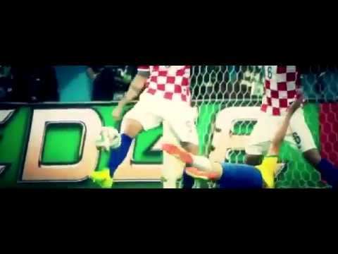 Fred dive in penalty   Brazil vs Croatia World Cup 2014