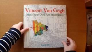 Vincent Van Gogh Make Your Own Art Masterpiece Daisy Seal Colouring Book Flipthrough