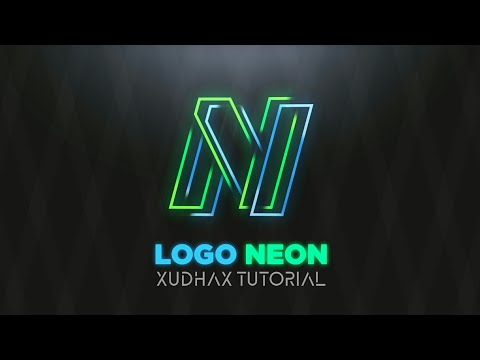 Cara Membuat Logo Text NEON Effect Di Hp Android Pixellab & Photoshop Touch