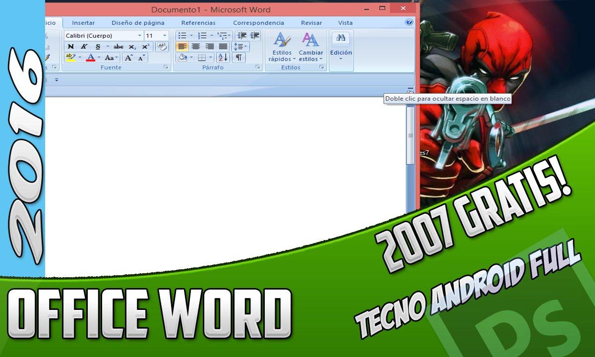 descargar e instalar word 2007 gratis para windows 7