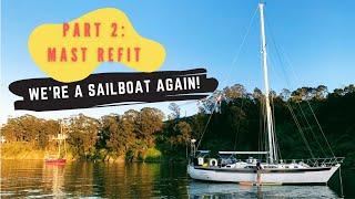 EP 24: DIY Dyneema Standing Rigging - WE'RE A SAILBOAT AGAIN! | Two the Horizon Sailing