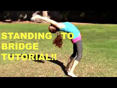 How To Do Gymnastics! Stand To Backbend/Bridge Tutorial With Coach Meggin!!
