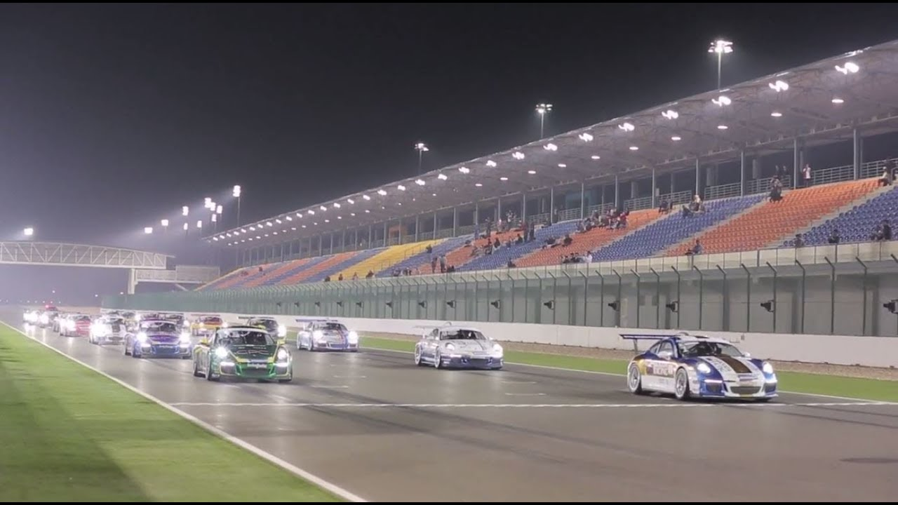 Porsche GT3 Cup Challenge Middle East - Race 1 at the Losail International Circuit, Qatar - YouTube