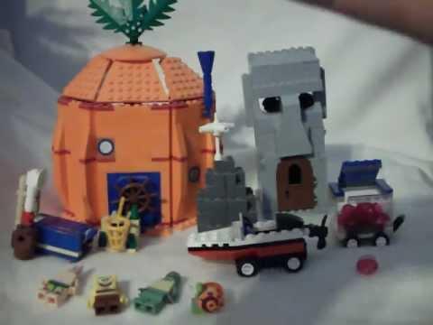 lego spongebob houses review youtube. Black Bedroom Furniture Sets. Home Design Ideas
