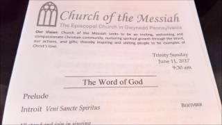 Church of the Messiah full service   6 11 2017