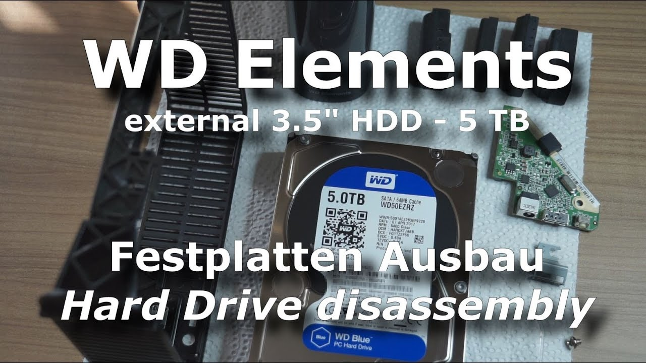 WD Elements | USB CASE OPENING and HDD disassembly | Western Digital BLUE  HARD DISK