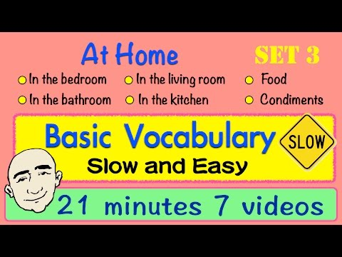 Basic Vocabulary | Slow and Easy | Long Video | Set 3 | English Speaking Practice