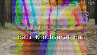 Zindagani Badi Khoobsurat Hui|| Female Version|| Romantic Song||I❤U|| WhatsApp Status