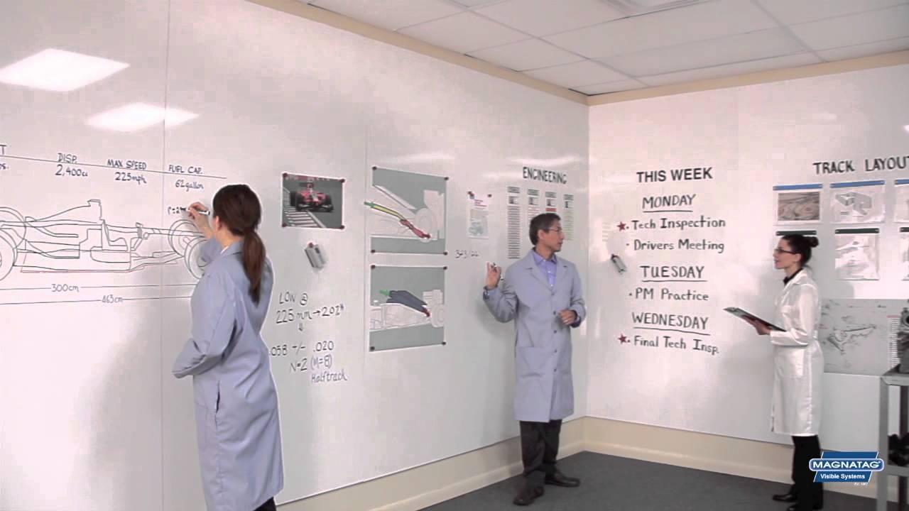 Magnetic Whiteboard Steel Wall Panels (WhiteWalls) - YouTube