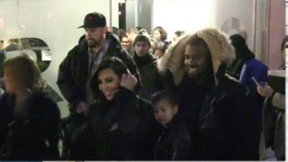 Kim Kardashian, Kanye West And Baby North Looks Like An Happy Family In New York