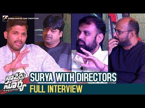 Surya with Directors   Naa Peru Surya Naa...