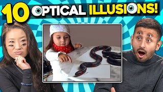 Adults React To 10 Mind Blowing Optical Illusions