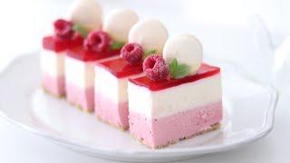 ラズベリー・レアチーズケーキの作り方 No-Bake Raspberry Cheesecake|HidaMari Cooking