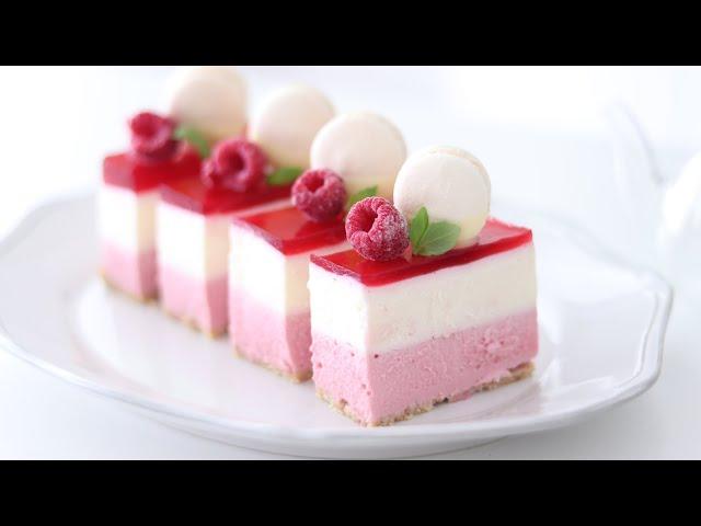 ラズベリー・レアチーズケーキの作り方 No-Bake Raspberry Cheesecake HidaMari Cooking